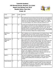 daily activity report sample narrative report cards harmony fine arts narrative report card 1