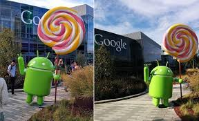 android statues unveils its android lollipop statue