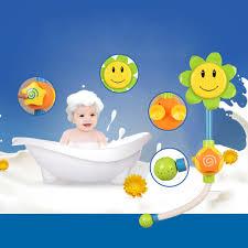 2017 sunflower shower faucet baby bath toys children bath smile