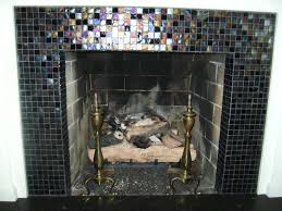 glass tile fireplace surround nana u0027s workshop