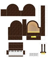printable barbie house furniture para imprimir e montar printable paper grand pianos and doll houses