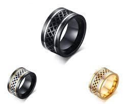 stainless steel rings for men wholesale black stainless steel rings for men
