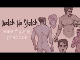 male figures quick sketch practice youtube
