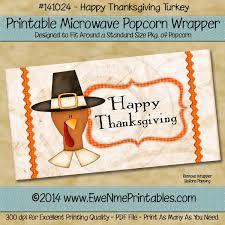 printable pdf file popcorn wrapper thanksgiving turkey