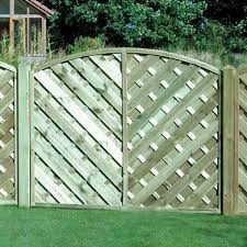 Arch Trellis Fence Panels Arched V Style Continental Garden Fence Panel 1500mm X 1800mm