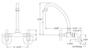 wallmount kitchen faucets
