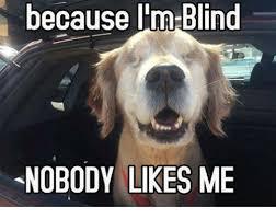 Blind Meme - because i m blind nobody likes me meme on me me