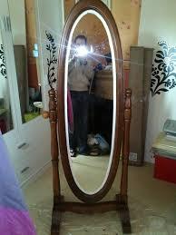 miroir de chambre sur pied custom miroir sur pieds ovale du neuf avec du vieux l de