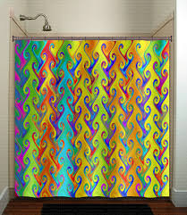 Colored Shower Curtain Brilliant Wonderful Bright Shower Curtains And Rainbow Colors