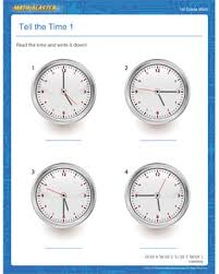 tell the time 1 u2013 free time worksheets and printables for grade