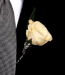 Rose Boutonniere Tf166 1 White Rose Boutonniere Victor The Florist The Best In