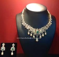 diamond sets design jewellery designs pearls studded breath taking diamond set