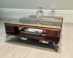 reclaimed wood coffee table with wheels decoration coffee tables on wheels
