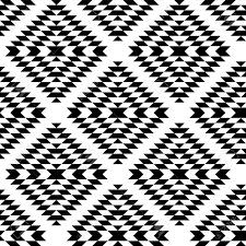 black and white aztec ornaments geometric ethnic seamless pattern