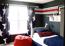 the yellow cape cod stars and stripes boys room