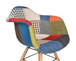 Esszimmerst Le Bunt 1x Design Patchwork Sessel Wohnzimmer Büro Stuhl Esszimmer Sitz