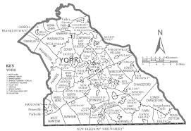 County Map New York by York County Map