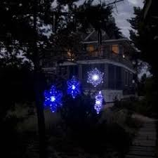 outdoor hanging snowflake lights hanging solar snowflake light color changing led style 1