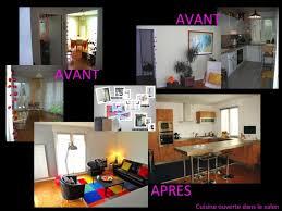 deco salon ouvert sur cuisine cuisine et salon ouvert finest placards et meubles meuble tv