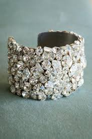 silver crystal cuff bracelet images Swarovski crystal cuff bracelet 2 inches wide wedding cuff jpg