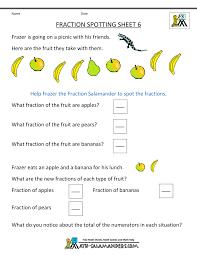 Free Math Worksheets Printable Free Math Worksheets Fractions Photocito