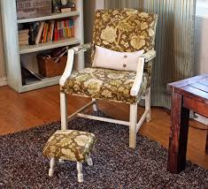 running with scissors upholstered footstool ballard design knock what s nice is the fact these are so small they can tuck right under the chair when not in use so they are out of the way so you won t trip over