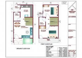 Fascinating House Plan For 16 Feet 54 Feet Plot Plot Size 96 16 X 50 Floor Plans