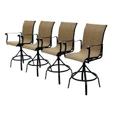 Motion Patio Chairs Bar Stools Set Of 4 Outdoor Swivel Bar Stools Outdoor Wicker Bar