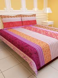 Bed Shoppong On Line Buy Sai Arpan U0027s Polycotton Double Bed Sheet With Pillow Covers