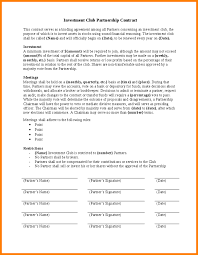 11 investment contract template budget template