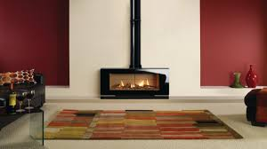 free standing gas fireplace interior design