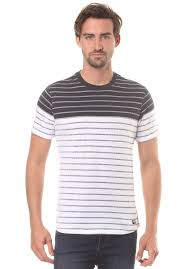 Bench Mens T Shirt Bench Jaquard Stripe T Shirt For Men Blue Planet Sports