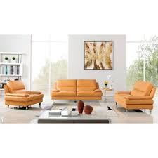Beige Leather Living Room Set Modern Living Room Sets Allmodern