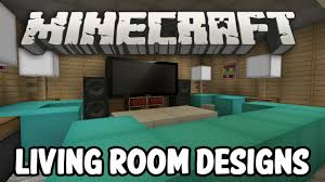 minecraft interior design living room edition youtube