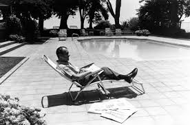 Reagan S Sunbeam Rug President Richard Nixon Lounges By His Pool At La Casa Pacifica