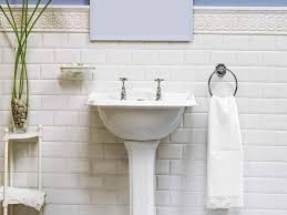 White Subway Bathroom Tile All About Beveled Subway Tile With White Towel Bathroom