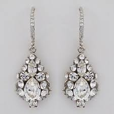 wedding earrings drop haute earrings ec507 rhinestone drop wedding earrings