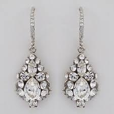 haute earrings ec507 rhinestone drop wedding earrings