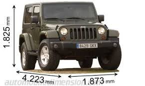 how wide is a jeep wrangler dimensions of jeep cars showing length width and height