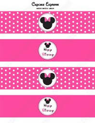 free minnie mouse party water bottle labels juju pinterest
