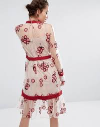 endless rose endless rose floral embroidered dress
