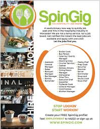 spingig u2013 free site that brings restaurant and hospitality