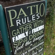 patio sign customizable patio decor porch sign deck sign wood