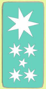 australian flag stars x 6 stars on die 6146b mat included a1
