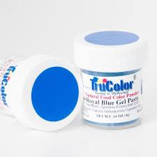 trucolor gel paste natural food coloring royal blue dye free