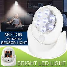 battery operated motion activated light led motion sensor light indoor outdoor garden wall patio shed