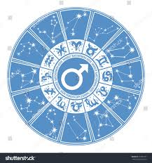 horoscope circle zodiac signs constellations zodiacinside stock