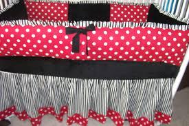 Pink And Black Polka Dot Bedding Lady Bug Red Black White Polka Dot Bumper Pad Baby Crib Set