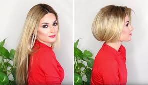 how to make long hair look short