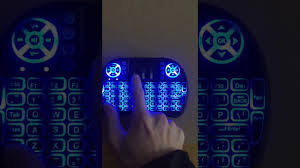 light up wireless keyboard light up wireless keyboard at 7 colors so easy youtube